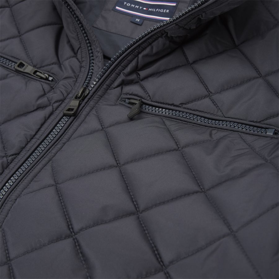 STRIPED RIB QUILTED BOMBER 7697 - Striped Rib Quilted Bomber - Jakker - Regular - NAVY - 6