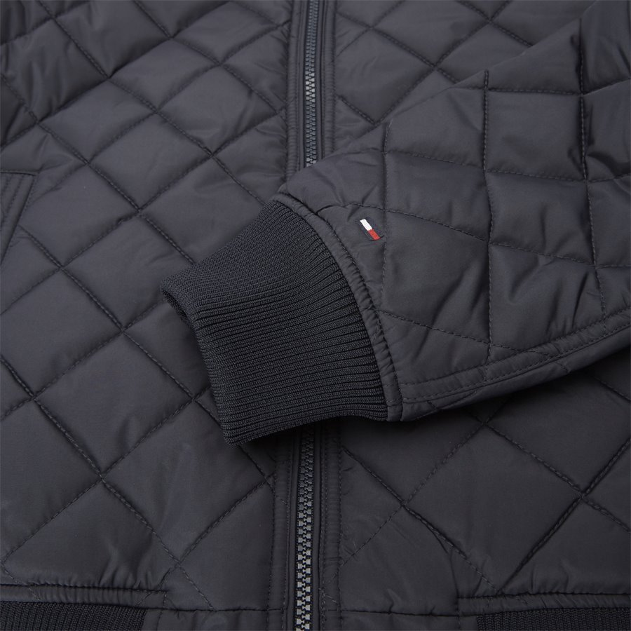 STRIPED RIB QUILTED BOMBER 7697 - Striped Rib Quilted Bomber - Jakker - Regular - NAVY - 8