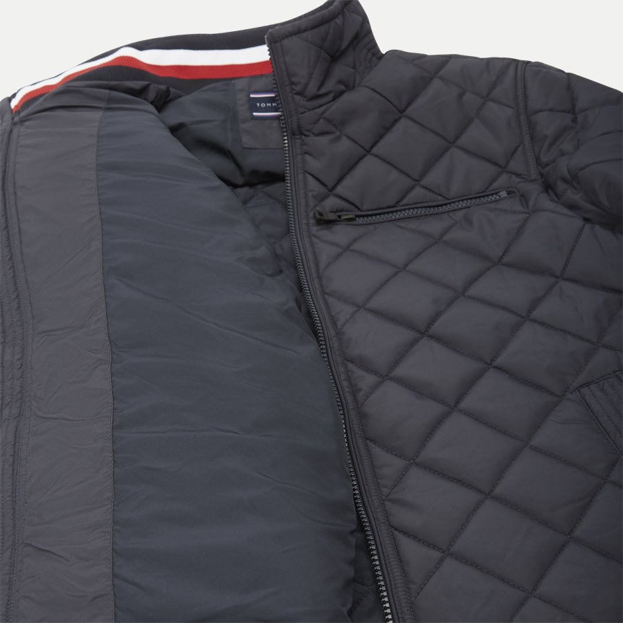 STRIPED RIB QUILTED BOMBER 7697 - Striped Rib Quilted Bomber - Jakker - Regular - NAVY - 10