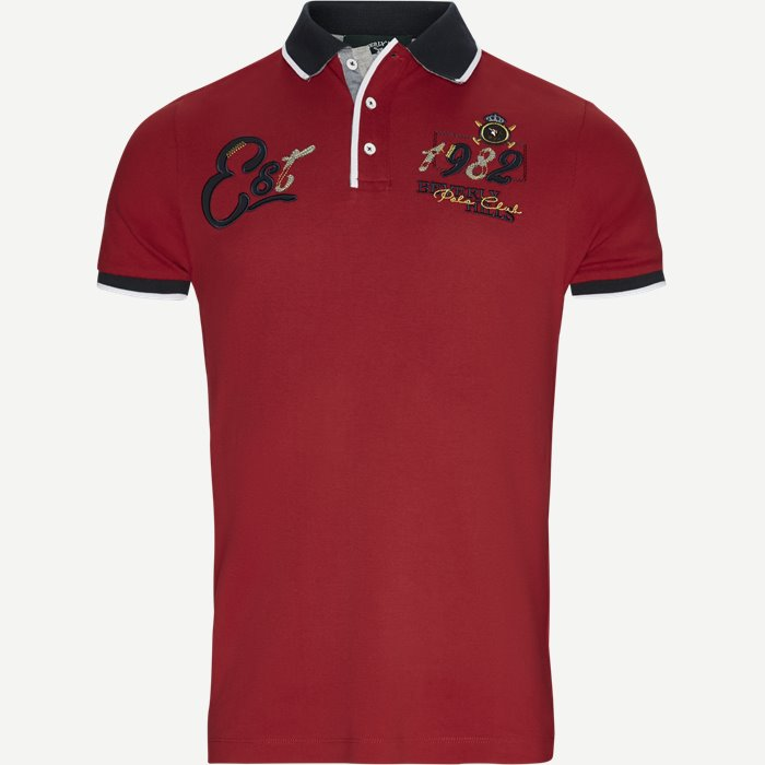 Piqué Polo T-shirt - T-shirts - Regular - Rød