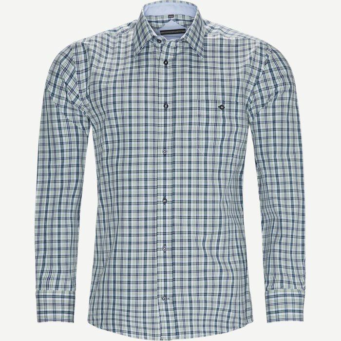 Birk Skjorte - Skjorter - Regular - Grøn