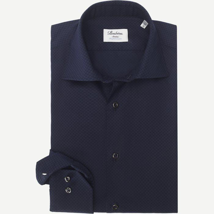 Twofold Stretch Skjorte - Skjorter - Blå