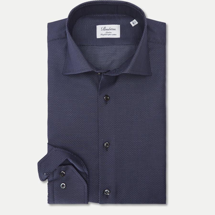 7689 712771/612771 - Twofold Super Cotton Skjorte - Skjorter - NAVY - 1