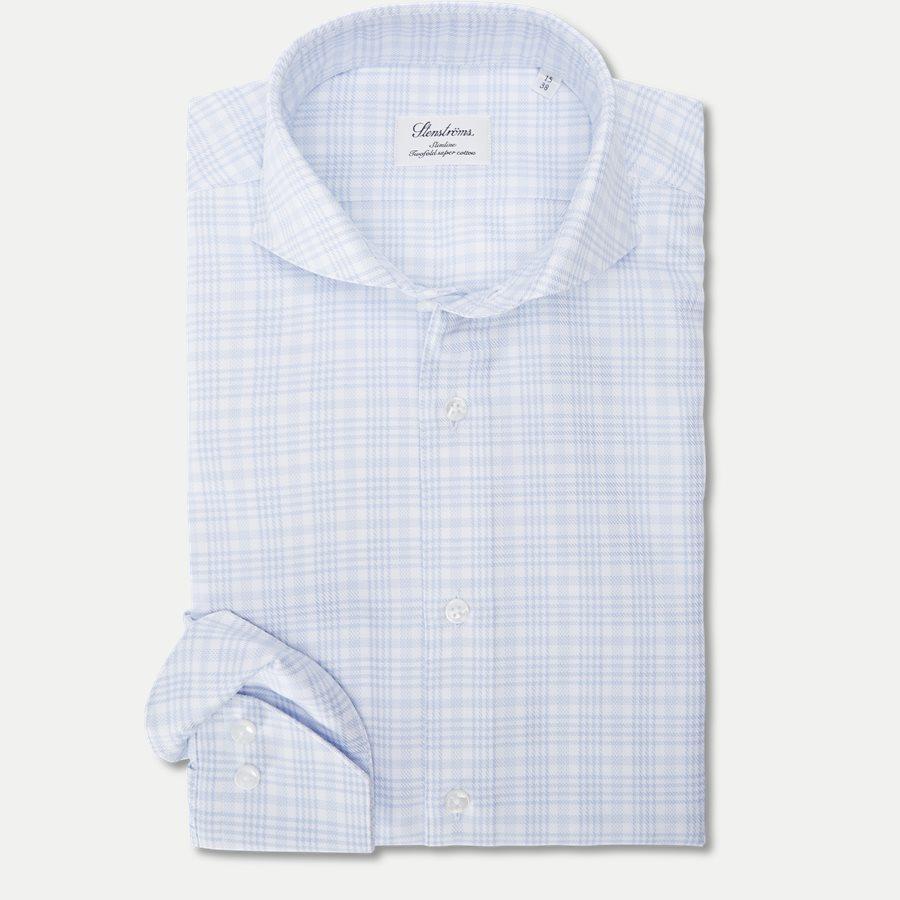 7642 702361/602361 - Twofold Super Cotton Skjorte - Skjorter - BLÅ - 1
