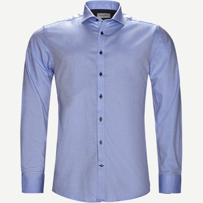 Stu Skjorte - Skjorter - Slim - Blå