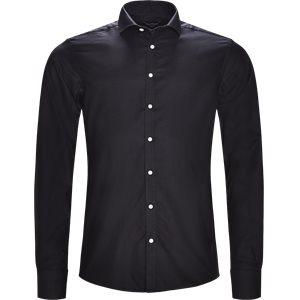 Fabrio Black Skjorte Modern fit | Fabrio Black Skjorte | Sort