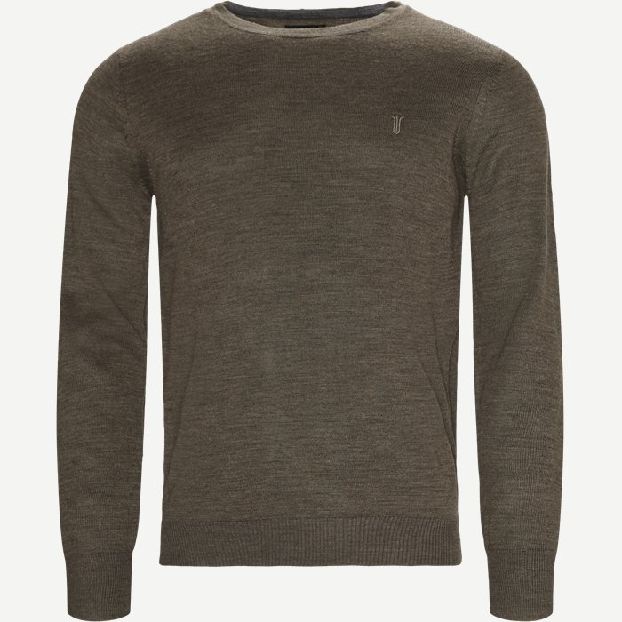 Jupiter Crew Neck Strik - Strik - Regular - Brun