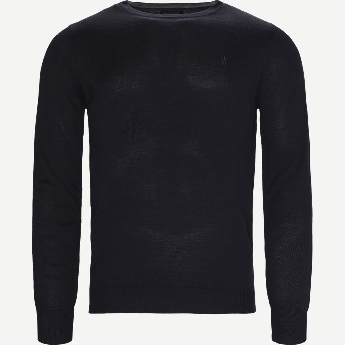 Jupiter Crew Neck Strik - Strik - Regular - Blå