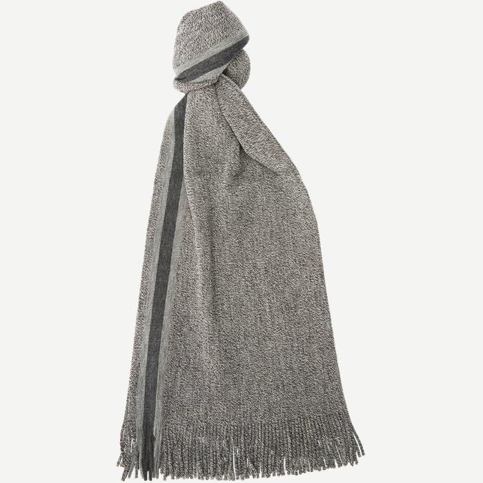 Fador02 Wool Scarf - Tørklæder - Grå