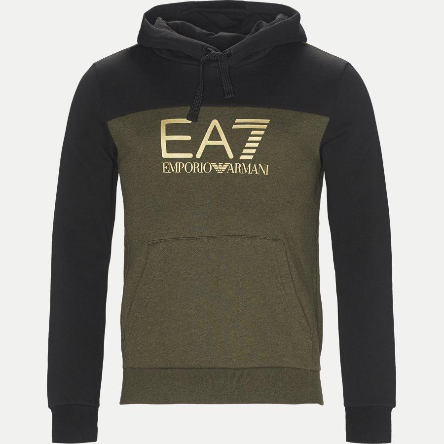 PJ07Z-6ZPM38 - Logo Hoodie Sweatshirt - Sweatshirts - Regular - ARMY - 1