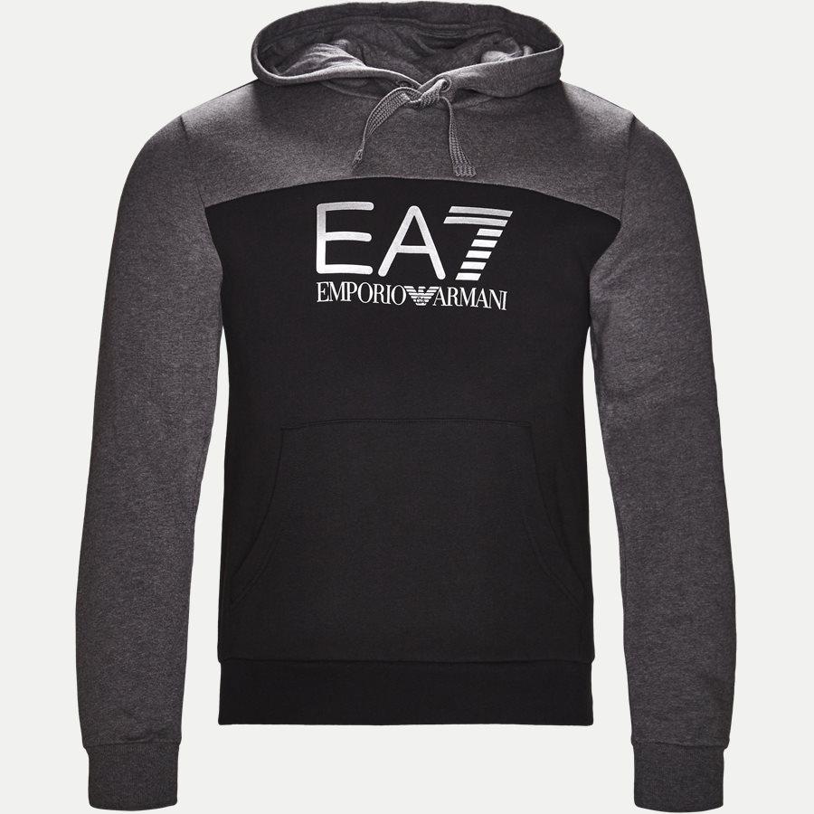 PJ07Z-6ZPM38 - Logo Hoodie Sweatshirt - Sweatshirts - Regular - SORT - 1