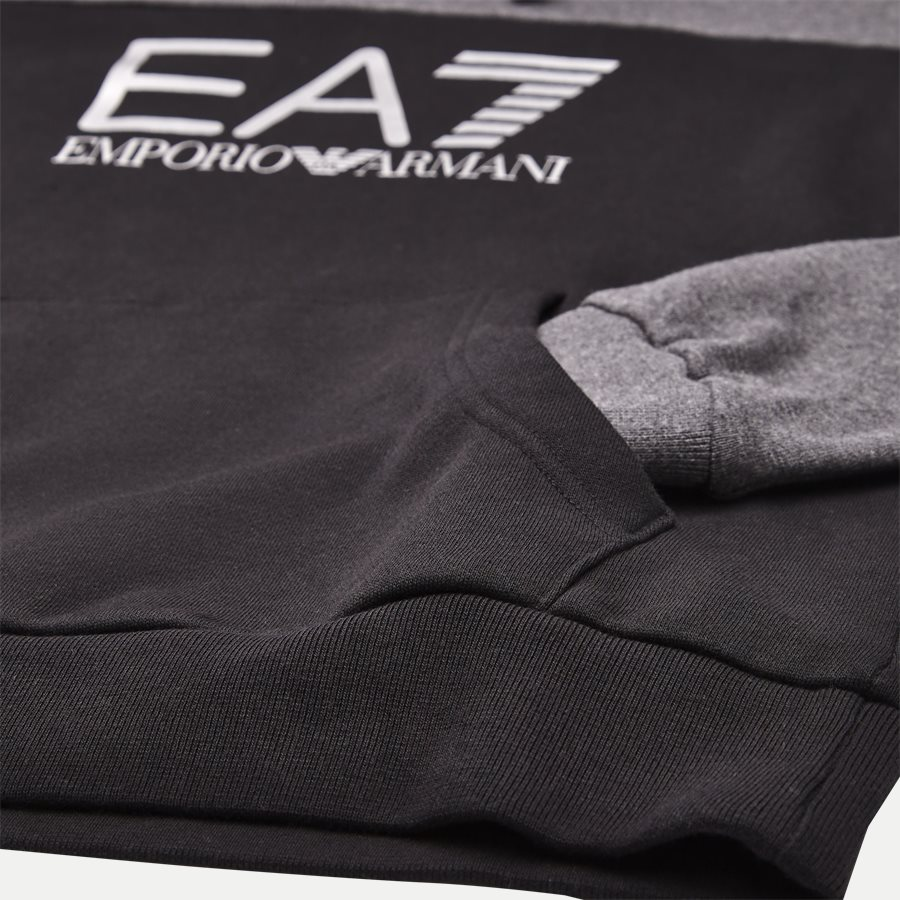 PJ07Z-6ZPM38 - Logo Hoodie Sweatshirt - Sweatshirts - Regular - SORT - 4