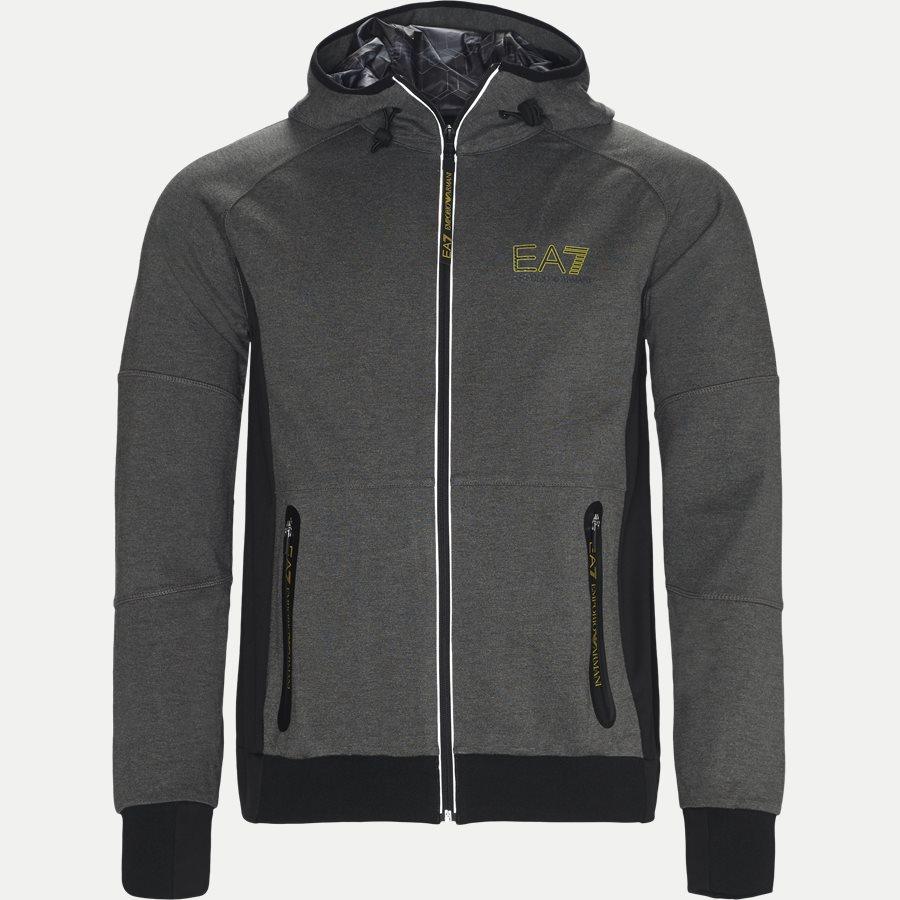 PJQ7Z-6ZPM65 - Hoodie Sweatshirt - Sweatshirts - Regular - GRÅ - 1