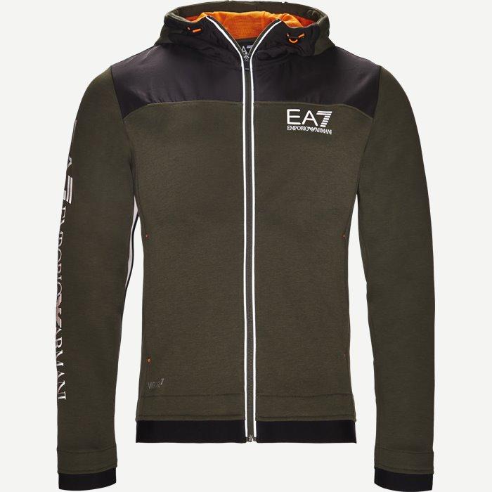 Hooded Zippered Jacket - Sweatshirts - Regular - Army