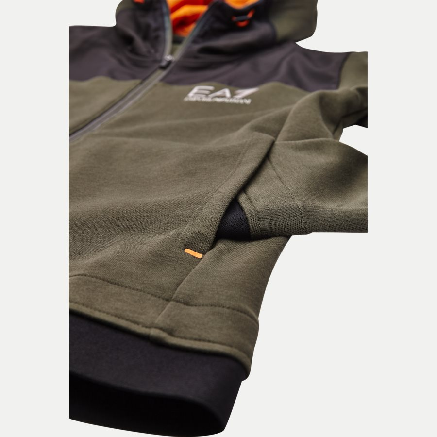 PJF3Z-6ZPM30 - Hooded Zippered Jacket - Sweatshirts - Regular - ARMY - 4