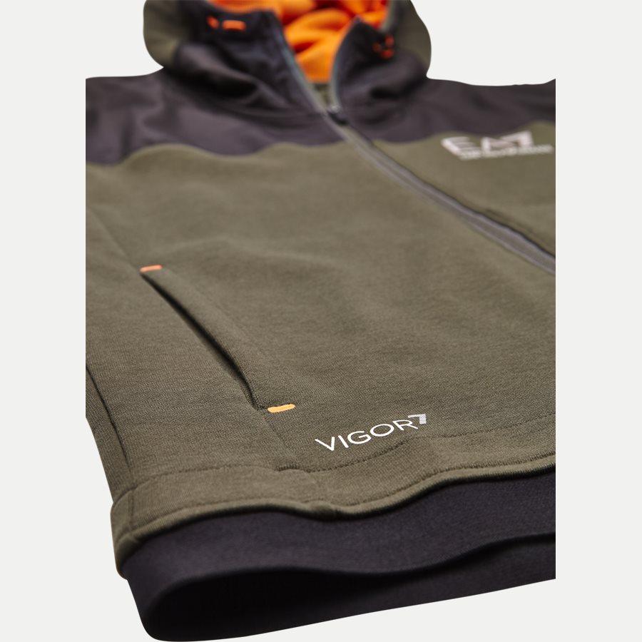 PJF3Z-6ZPM30 - Hooded Zippered Jacket - Sweatshirts - Regular - ARMY - 5
