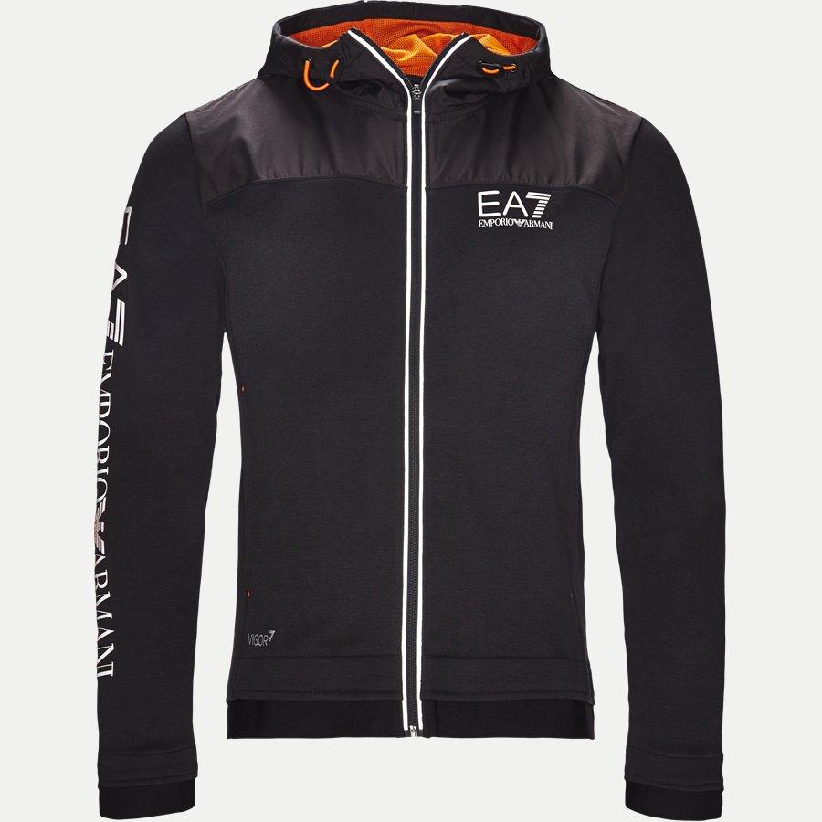 PJF3Z-6ZPM30 - Hooded Zippered Jacket - Sweatshirts - Regular - SORT - 1