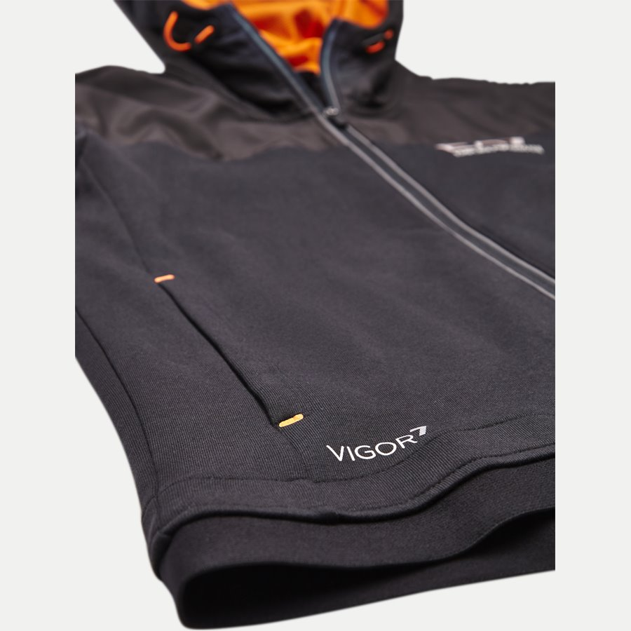 PJF3Z-6ZPM30 - Hooded Zippered Jacket - Sweatshirts - Regular - SORT - 5