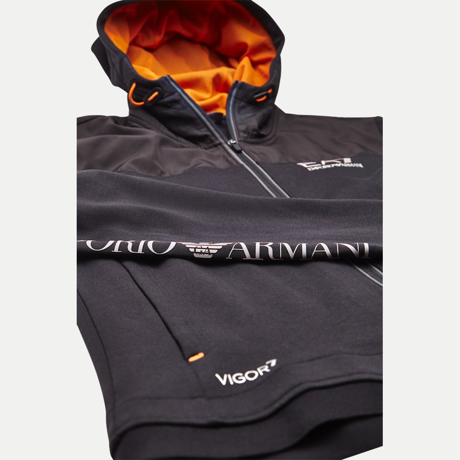 PJF3Z-6ZPM30 - Hooded Zippered Jacket - Sweatshirts - Regular - SORT - 6