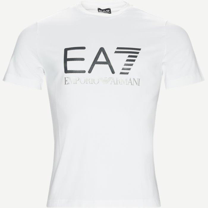 Print T-shirt - T-shirts - Regular - Hvid