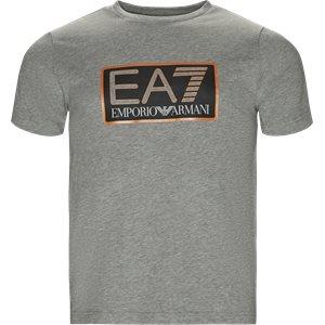 Crew Neck T-shirt Regular | Crew Neck T-shirt | Grå