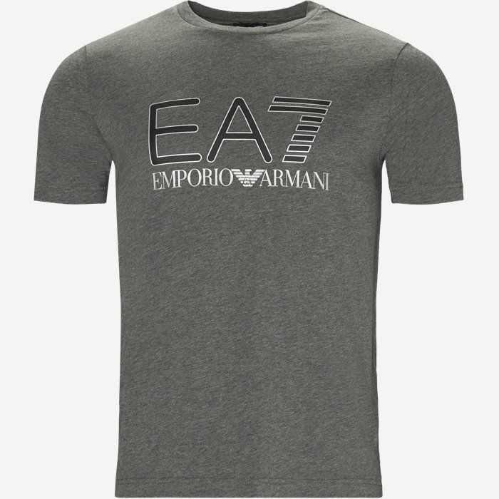 Crew Neck T-shirt - T-shirts - Regular - Grå