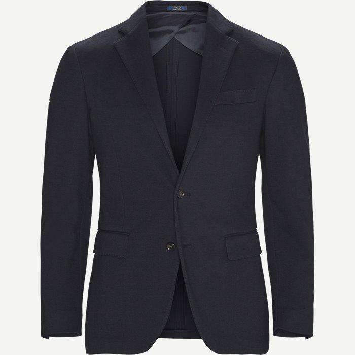 Woven Pique Sports Coat - Blazer - Regular - Blå