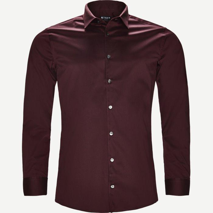 Filbrodie Skjorte - Skjorter - Ekstra slim fit - Bordeaux