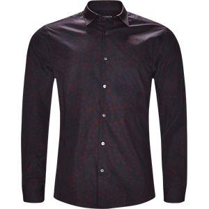 Farrell4 Skjorte Slim | Farrell4 Skjorte | Bordeaux