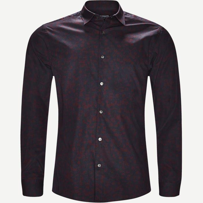 Farrell4 Skjorte - Skjorter - Slim - Bordeaux