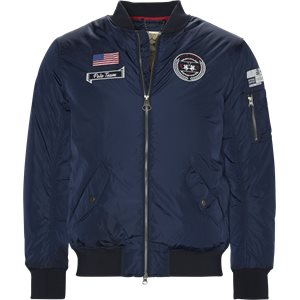 Dylan Bomber Jacket Regular | Dylan Bomber Jacket | Blå