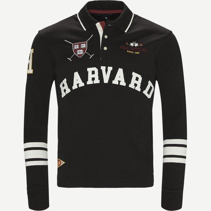Langærmet Polo - Sweatshirts - Regular - Sort