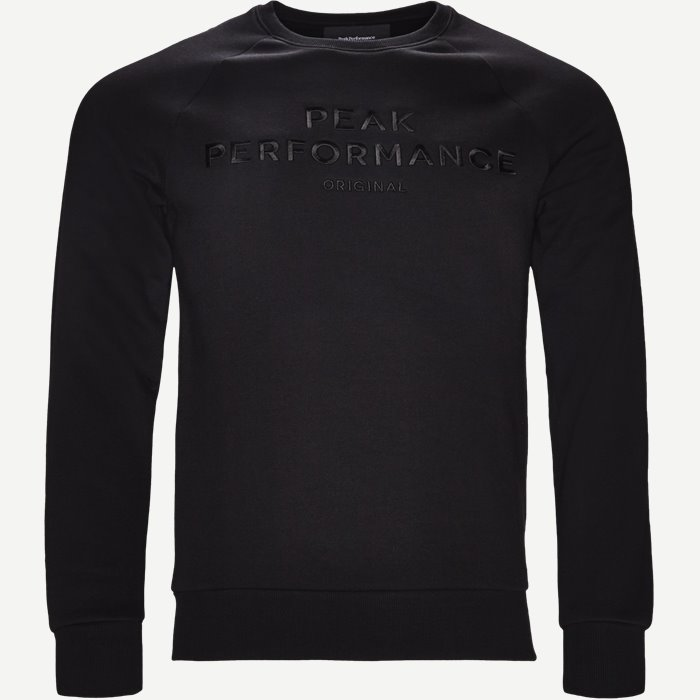 Logo Sweatshirt - Sweatshirts - Regular - Sort
