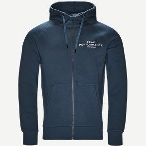 Hooded Zippered Sweatshirt Regular | Hooded Zippered Sweatshirt | Grøn