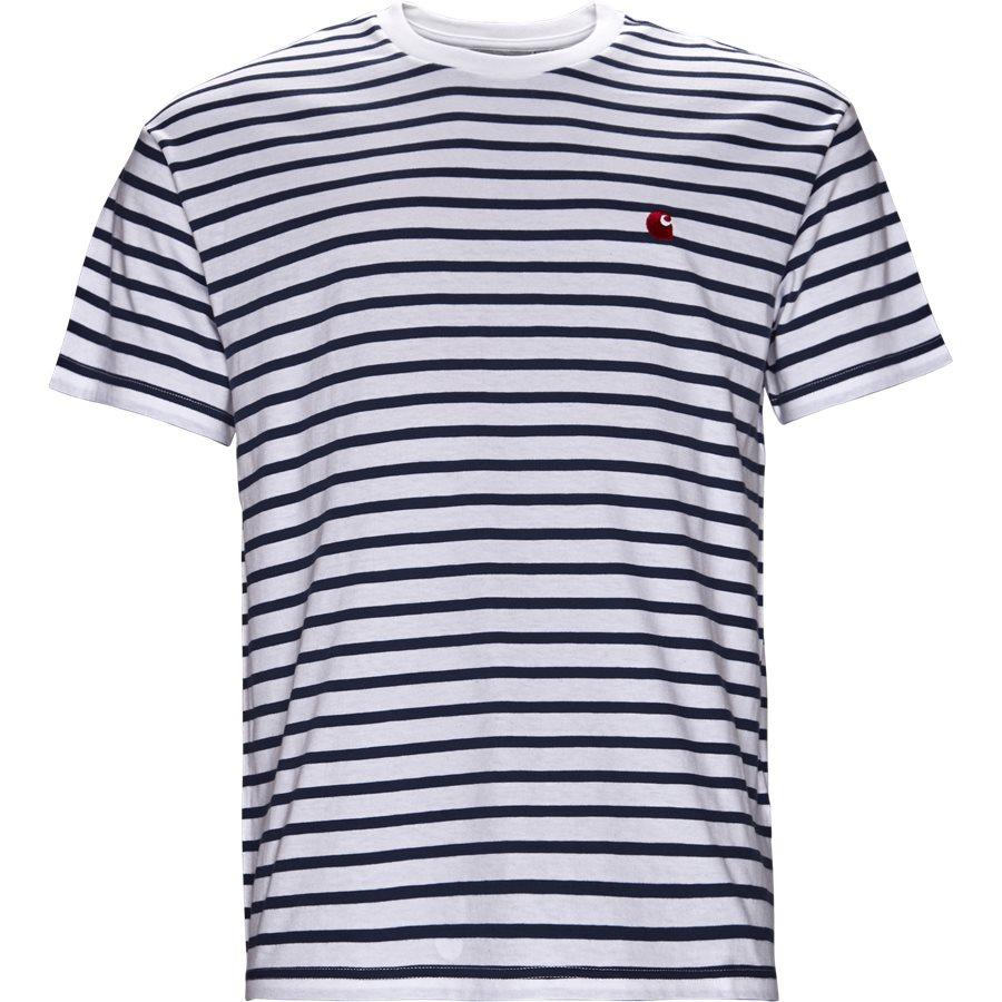 CHAMP TEE I022972 - Champ Tee - T-shirts - Regular - BLUE/WHI/GOJI - 1