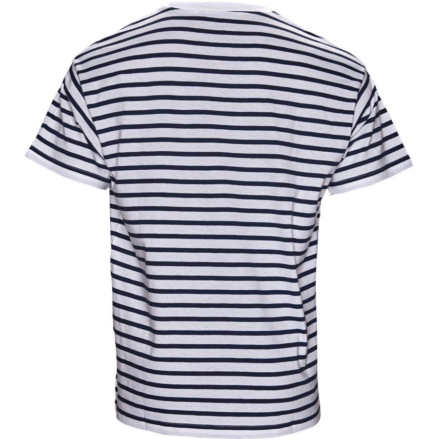 CHAMP TEE I022972 - Champ Tee - T-shirts - Regular - BLUE/WHI/GOJI - 2