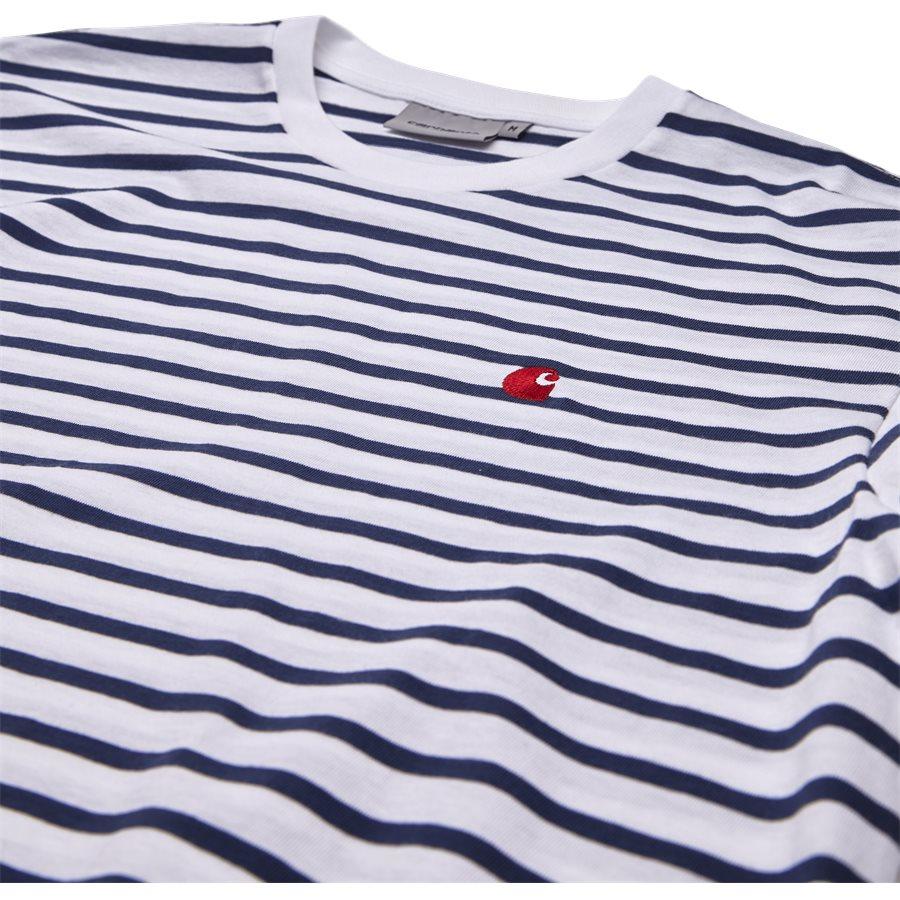 CHAMP TEE I022972 - Champ Tee - T-shirts - Regular - BLUE/WHI/GOJI - 3