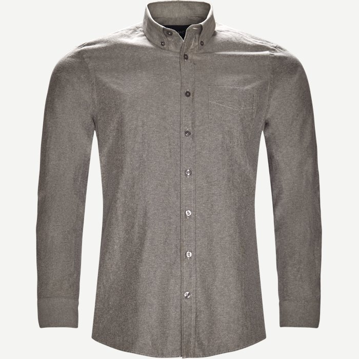 Button-down Skjorte - Skjorter - Regular - Grå