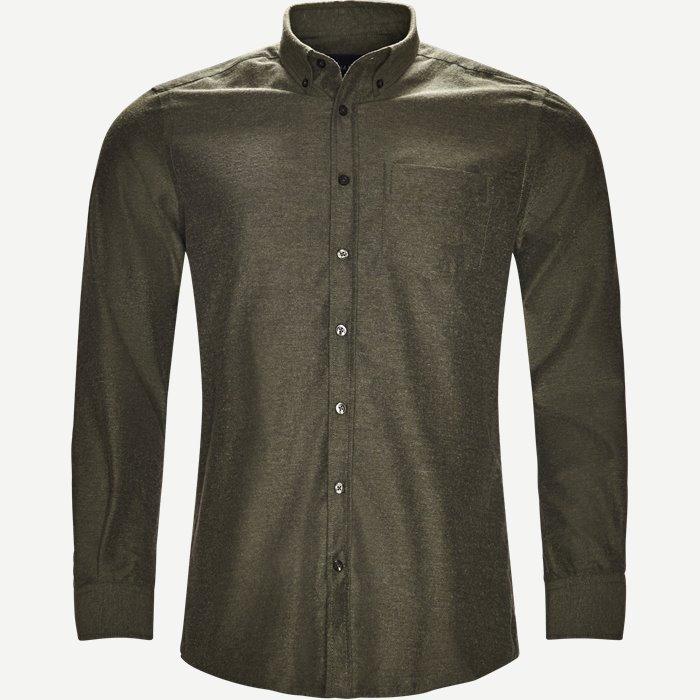 Button-down Skjorte - Skjorter - Regular - Army