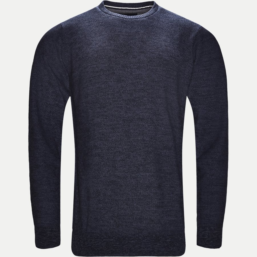 12231 946 - Crew Neck Strik - Strik - Regular - DENIM - 1