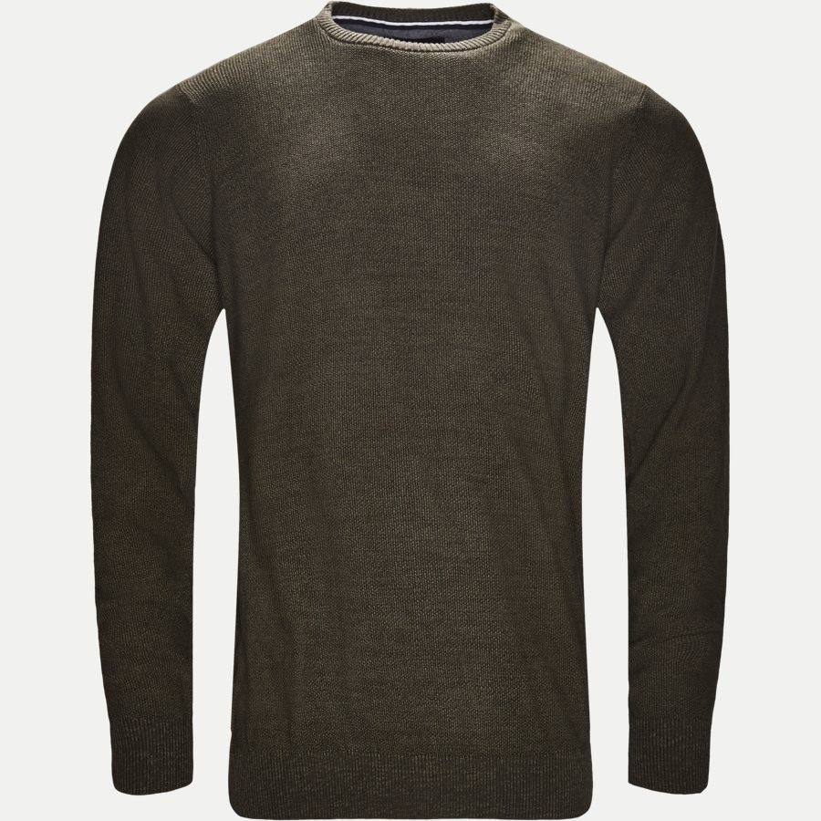 12231 946 - Crew Neck Strik - Strik - Regular - OLIVEN - 1