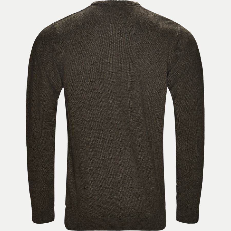 12231 946 - Crew Neck Strik - Strik - Regular - OLIVEN - 2