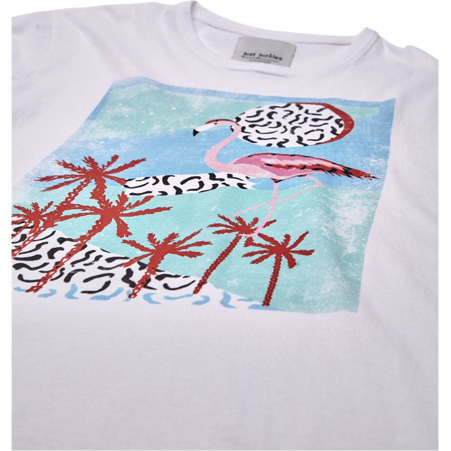 FLAMINGO JJ791 - Flamingo - T-shirts - Regular - HVID - 3