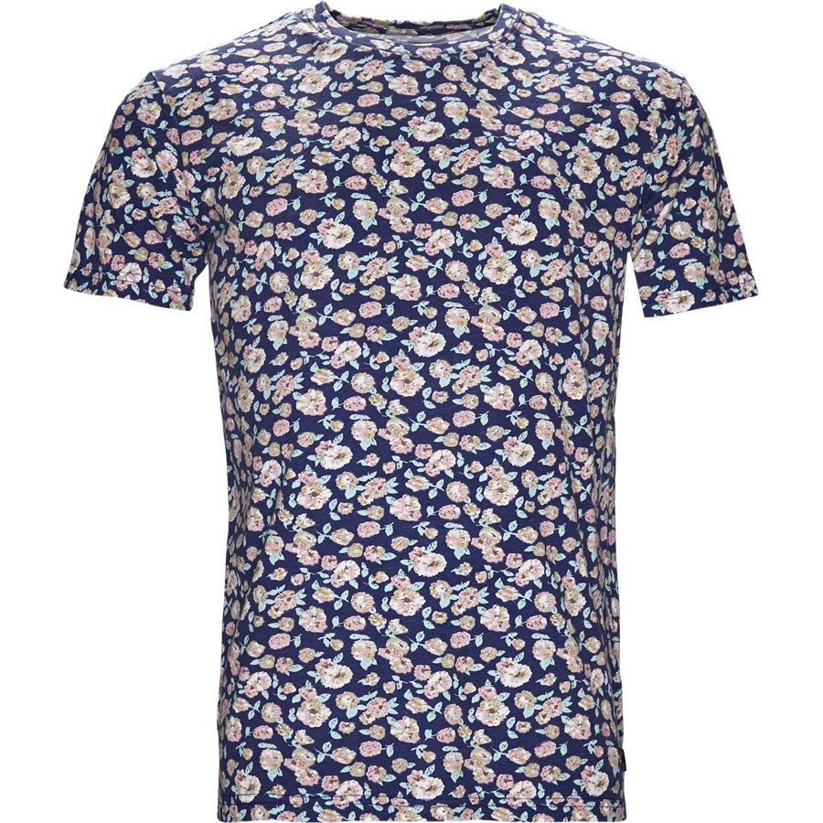 CENTRAL FLOWER TEE JJ809 - Central Flower Tee - T-shirts - Regular - NAVY - 1