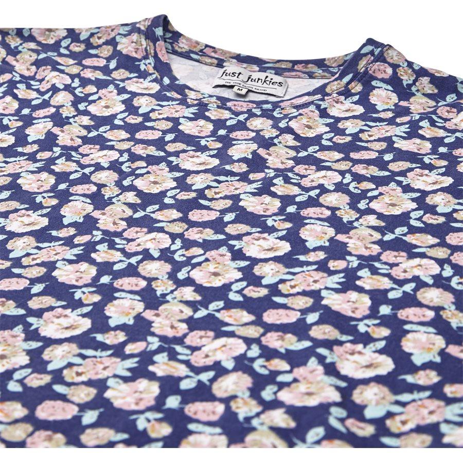 CENTRAL FLOWER TEE JJ809 - Central Flower Tee - T-shirts - Regular - NAVY - 3