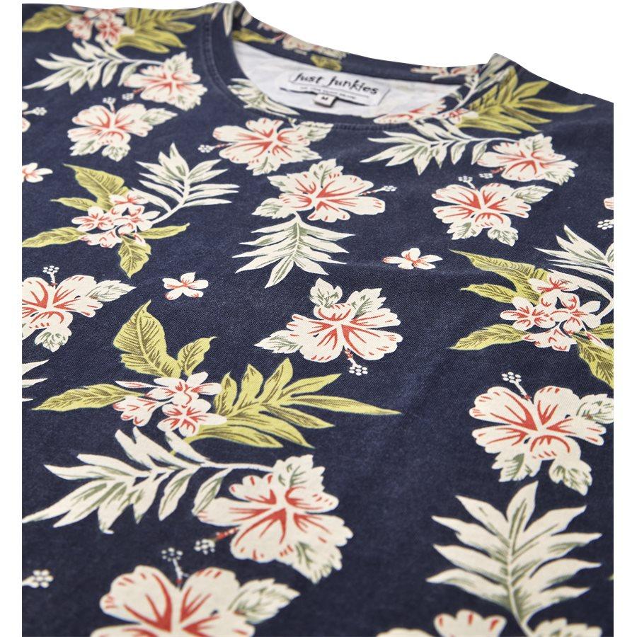 EUROPE FLOWER TEE JJ810 - Europe Flower Tee - T-shirts - Regular - SORT - 3