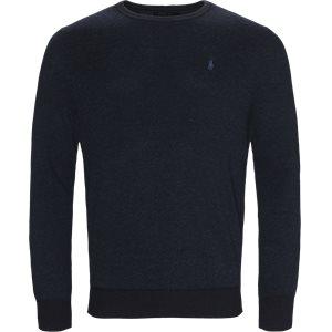 Pima Cotton Textured Crew Neck Pullover Regular | Pima Cotton Textured Crew Neck Pullover | Denim