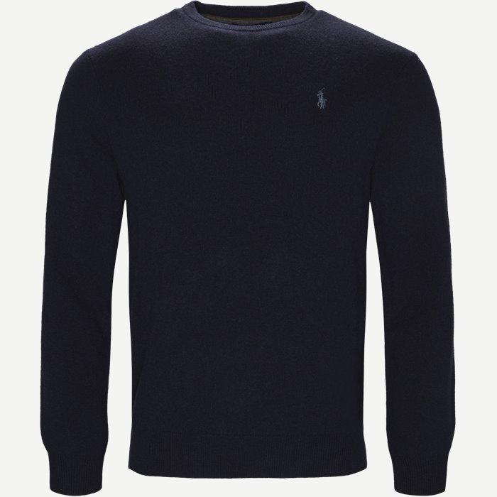 Classics Crew Neck Pullover - Strik - Regular - Blå