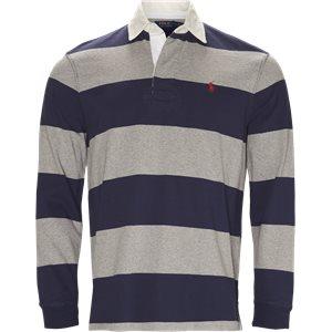 Striped Jersey Rugby Sweatshirt Regular | Striped Jersey Rugby Sweatshirt | Blå