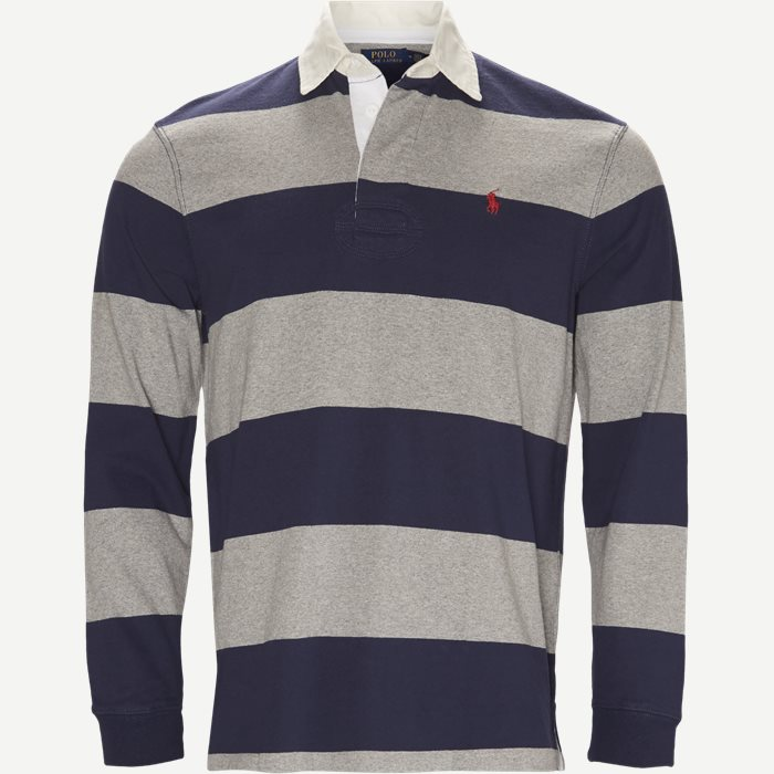 Striped Jersey Rugby Sweatshirt - Sweatshirts - Regular - Blå
